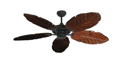 """Picture of Coastal Air Oil Rubbed Bronze with 52"""" Series 125 Arbor Cherrywood Blades"""