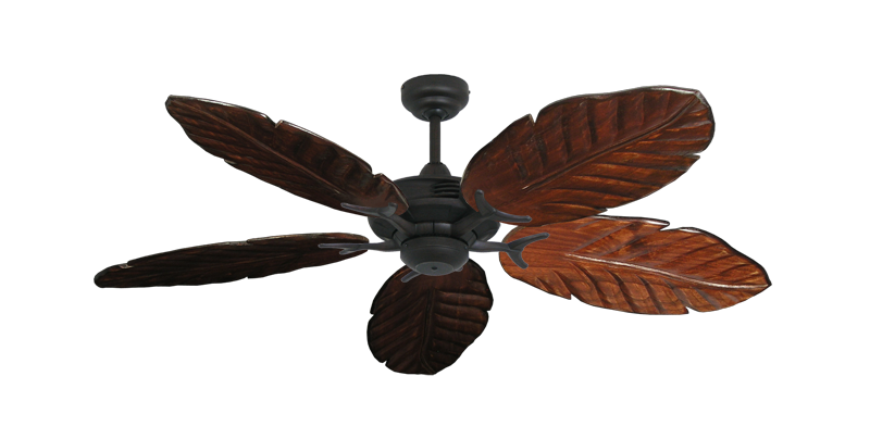 """Coastal Air Oil Rubbed Bronze with 52"""" Series 125 Arbor Cherrywood Blades"""