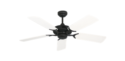 "Coastal Air Oil Rubbed Bronze with 44"" Outdoor Pure White Blades"