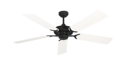 """Coastal Air Oil Rubbed Bronze with 52"""" Outdoor Pure White Blades"""