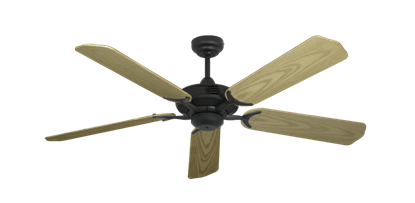 """Coastal Air Oil Rubbed Bronze with 52"""" Outdoor Bleached Oak Blades"""