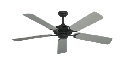 """Picture of Coastal Air Oil Rubbed Bronze with 52"""" Outdoor Brushed Nickel Blades"""
