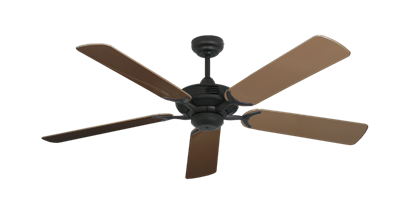 """Coastal Air Oil Rubbed Bronze with 52"""" Outdoor Brown Blades"""