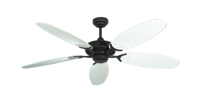 """Coastal Air Oil Rubbed Bronze with 52"""" Outdoor Leaf Pure White Blades"""
