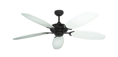 """Coastal Air Oil Rubbed Bronze with 52"""" Outdoor Wicker Pure White Blades"""