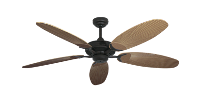 """Picture of Coastal Air Oil Rubbed Bronze with 52"""" Outdoor Leaf Tan Blades"""