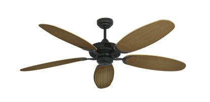 """Coastal Air Oil Rubbed Bronze with 52"""" Outdoor Wicker Tan Blades"""