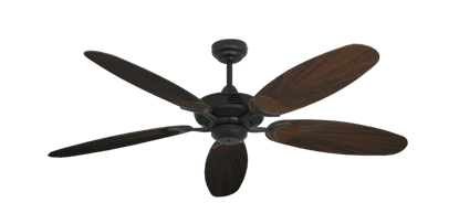 """Coastal Air Oil Rubbed Bronze with 52"""" Outdoor Leaf Oil Rubbed Bronze Blades"""