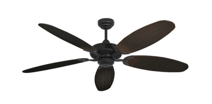"""Coastal Air Oil Rubbed Bronze with 52"""" Outdoor Wicker Oil Rubbed Bronze Blades"""