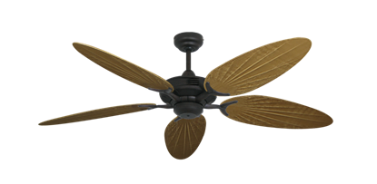 """Coastal Air Oil Rubbed Bronze with 52"""" Outdoor Palm Walnut Blades"""