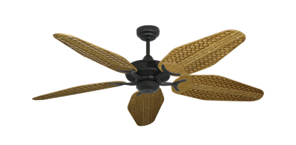 """Picture of Coastal Air Oil Rubbed Bronze with 52"""" Outdoor Weave Walnut Blades"""