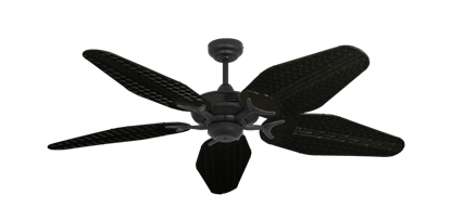 """Coastal Air Oil Rubbed Bronze with 52"""" Outdoor Weave Oil Rubbed Bronze Blades"""