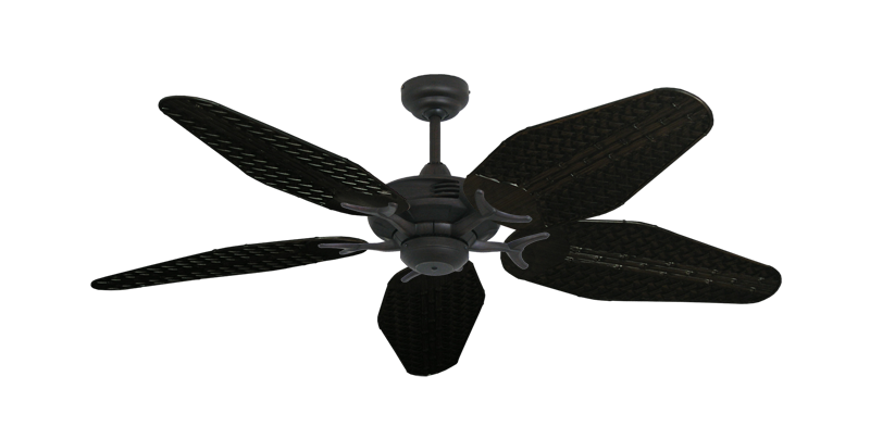 "Picture of Coastal Air Oil Rubbed Bronze with 52"" Outdoor Weave Oil Rubbed Bronze Blades"
