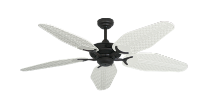 """Coastal Air Oil Rubbed Bronze with 52"""" Outdoor Weave Pure White Blades"""