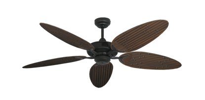 """Coastal Air Oil Rubbed Bronze with 52"""" Outdoor Bamboo Oil Rubbed Bronze Blades"""