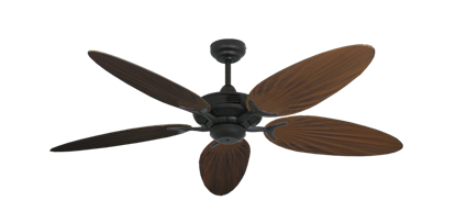 """Coastal Air Oil Rubbed Bronze with 52"""" Outdoor Palm Oil Rubbed Bronze Blades"""
