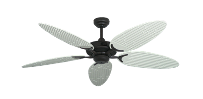 """Coastal Air Oil Rubbed Bronze with 52"""" Outdoor Bamboo Pure White Blades"""