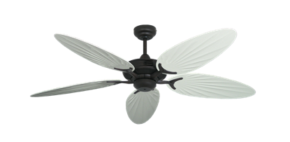 """Coastal Air Oil Rubbed Bronze with 52"""" Outdoor Palm Pure White Blades"""