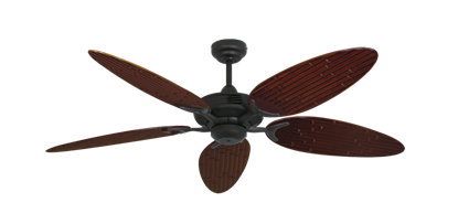 """Coastal Air Oil Rubbed Bronze with 52"""" Outdoor Bamboo Wine Blades"""