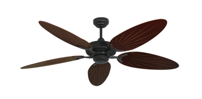 """Picture of Coastal Air Oil Rubbed Bronze with 52"""" Outdoor Palm Wine Blades"""