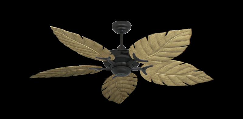 "Coastal Air Oil Rubbed Bronze with 52"" Venetian Walnut Blades"