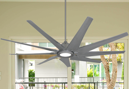 Picture of Liberator 72 in. WiFi Enabled Indoor/Outdoor Brushed Nickel Ceiling Fan With 18W LED Array Light