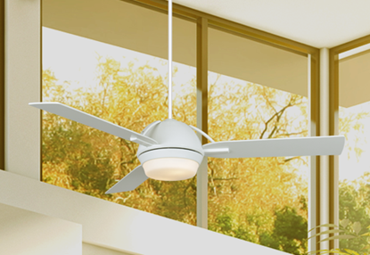 Enterprise 52 in. Pure White Ceiling Fan with Light