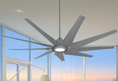 Picture of Liberator 82 in. WiFi Enabled Indoor/Outdoor Brushed Nickel Ceiling Fan With 18W LED Array Light