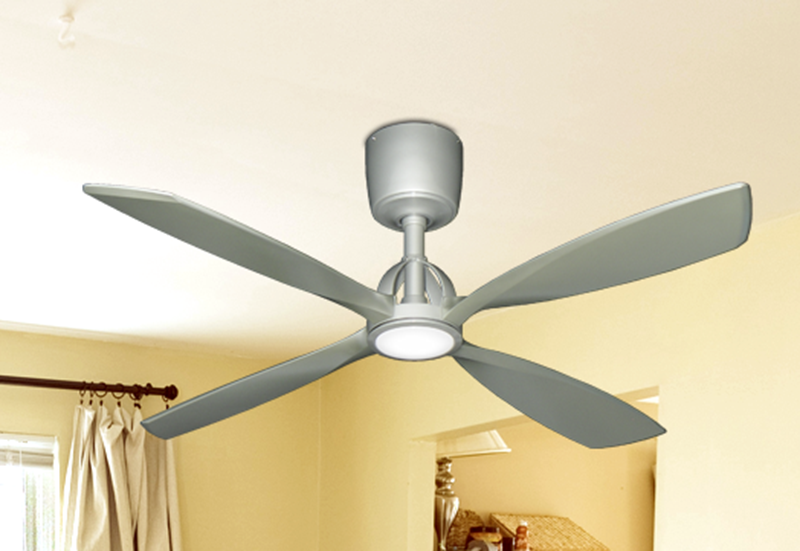 Picture of Ninja 56 in. Brushed Nickel Ceiling Fan with LED Light