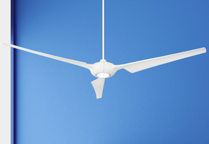 Ion 76 in. Indoor/Outdoor Pure White Ceiling Fan with 15W LED Light and Remote Control