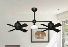 "Picture of 24"" Metropolitan Dual Ceiling Fan with Light in Oil Rubbed Bronze"