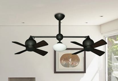 "24"" Metropolitan Dual Ceiling Fan with Light in Oil Rubbed Bronze"