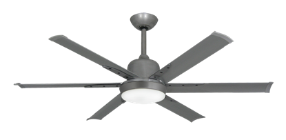 Picture of DC-6 52 in. Indoor/Outdoor Brushed Nickel BN-1 Ceiling Fan and Light