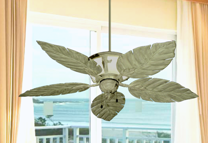 "Picture of 52"" Venetian Lighted Ceiling Fan in Driftwood"