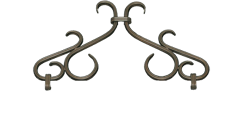 Twin Star Scroll in Oil Rubbed Bronze