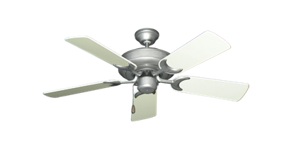 """Picture of Raindance Brushed Nickel BN-1 with 44"""" Antique White Gloss Blades"""