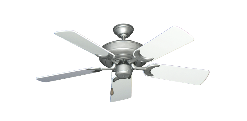 "Picture of Raindance Brushed Nickel BN-1 with 44"" Pure White Gloss Blades"