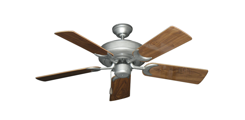 "Picture of Raindance Brushed Nickel BN-1 with 44"" Walnut Gloss Blades"