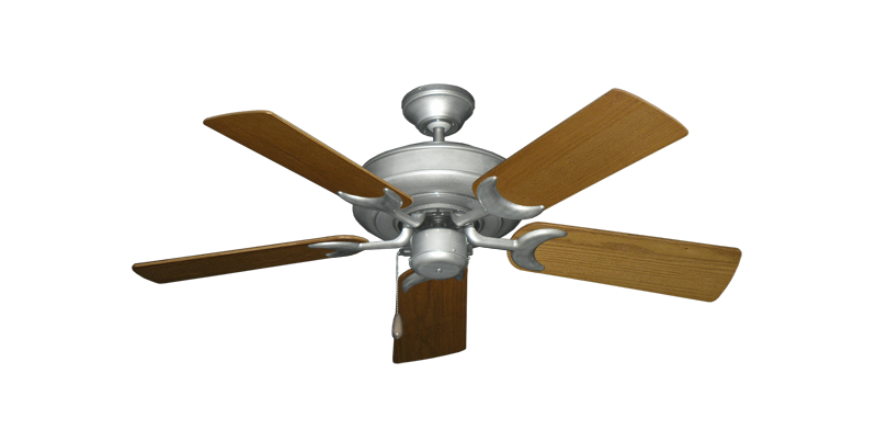 "Picture of Raindance Brushed Nickel BN-1 with 44"" Light Oak Blades"