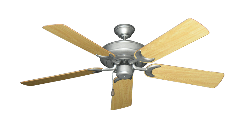 """Picture of Raindance Brushed Nickel BN-1 with 52"""" Honey Oak Gloss Blades"""