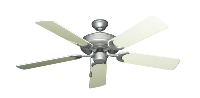"""Picture of Raindance Brushed Nickel BN-1 with 52"""" Antique White Gloss Blades"""