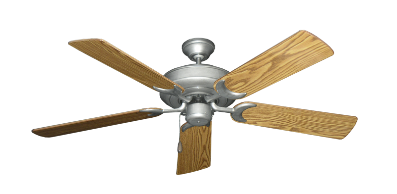 """Picture of Raindance Brushed Nickel BN-1 with 52"""" Oak Gloss Blades"""