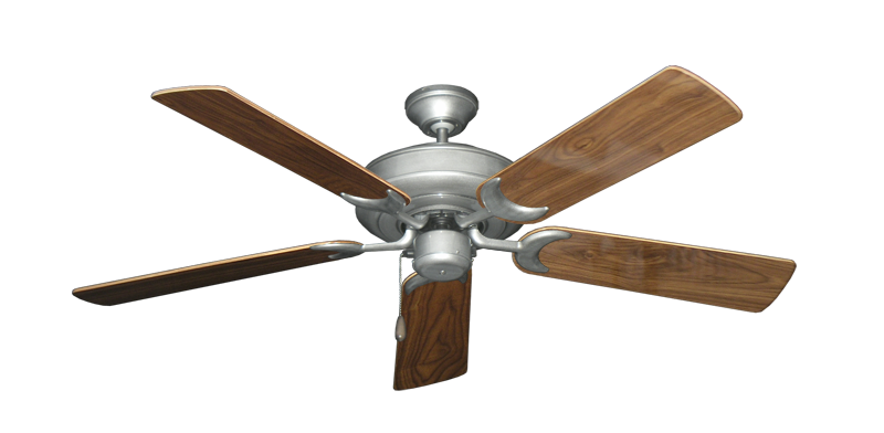 "Picture of Raindance Brushed Nickel BN-1 with 52"" Walnut Gloss Blades"