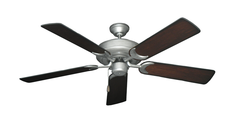 "Picture of Raindance Brushed Nickel BN-1 with 52"" Distressed Cherry Blades"