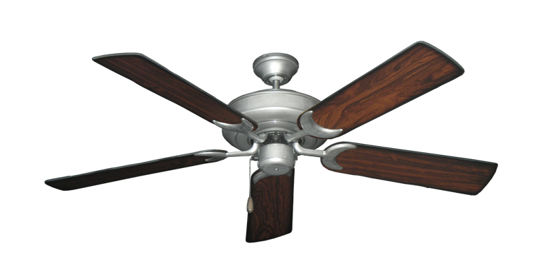 "Picture of Raindance Brushed Nickel BN-1 with 52"" Burnt Cherry Blades"