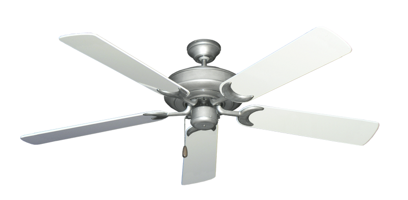 """Picture of Raindance Brushed Nickel BN-1 with 56"""" Pure White Gloss Blades"""