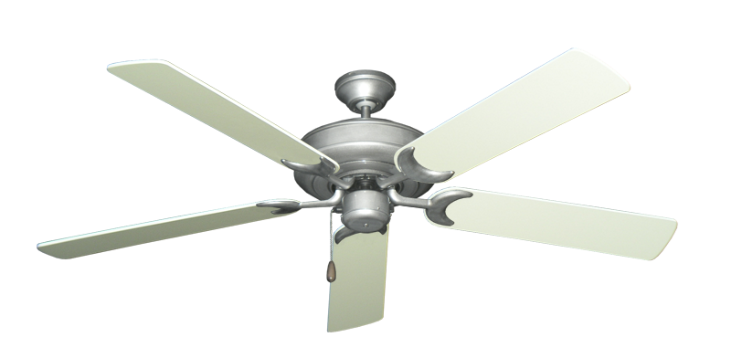 """Picture of Raindance Brushed Nickel BN-1 with 56"""" Antique White Blades"""
