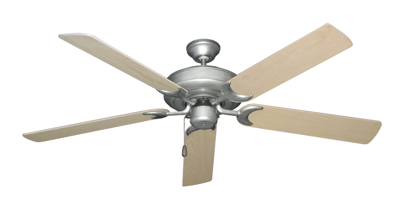"""Picture of Raindance Brushed Nickel BN-1 with 56"""" Bleached Oak Blades"""
