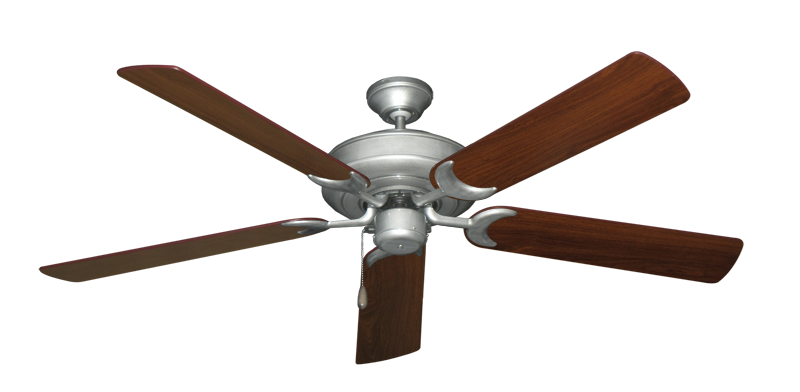 """Picture of Raindance Brushed Nickel BN-1 with 56"""" Walnut Blades"""