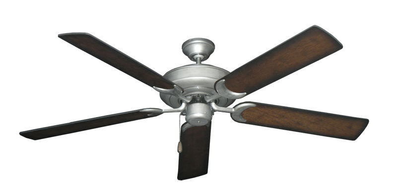 "Picture of Raindance Brushed Nickel BN-1 with 56"" Distressed Hickory Blades"